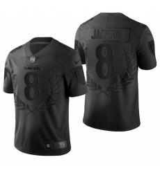 Men's Baltimore Ravens #8 Lamar Jackson Black Nike Souvenir Edition Limited Jersey