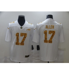 Men's Buffalo Bills #17 Josh Allen White Nike Leopard Print Limited Jersey