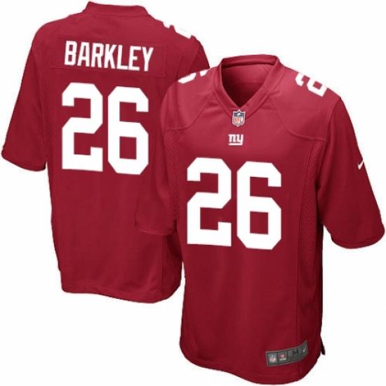 Men's Nike New York Giants #26 Saquon Barkley Game Red Alternate NFL Jersey