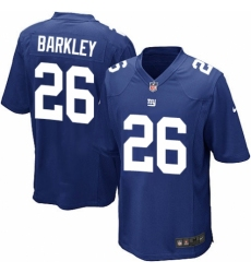 Men's Nike New York Giants #26 Saquon Barkley Game Royal Blue Team Color NFL Jersey