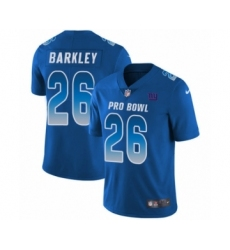 Men's Nike New York Giants #26 Saquon Barkley Limited Royal Blue NFC 2019 Pro Bowl NFL Jersey