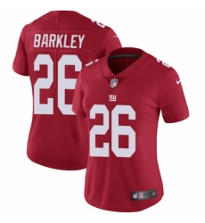 Women's Nike New York Giants #26 Saquon Barkley Red Alternate Vapor Untouchable Limited Player NFL Jersey