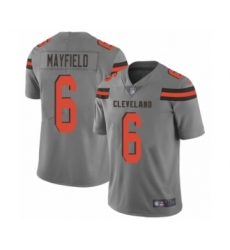Men's Cleveland Browns #6 Baker Mayfield Limited Gray Inverted Legend Football Jersey