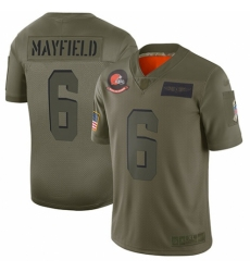 Women's Cleveland Browns #6 Baker Mayfield Limited Camo 2019 Salute to Service Football Jersey