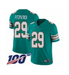 Youth Nike Miami Dolphins #29 Minkah Fitzpatrick Aqua Green Alternate Vapor Untouchable Limited Player 100th Season NFL Jersey