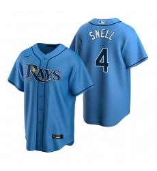 Men's Nike Tampa Bay Rays #4 Blake Snell Light Blue Alternate Stitched Baseball Jersey