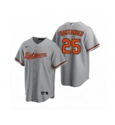 Women's Baltimore Orioles #25 Anthony Santander Nike Gray Replica Road Jersey