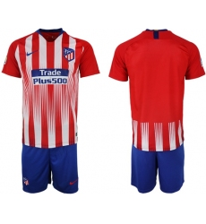 Atletico Madrid Blank Home Soccer Club Jersey6