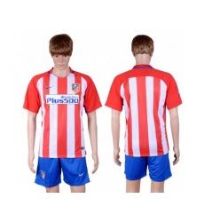 Atletico Madrid Blank Home Soccer Club Jerseys