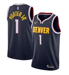 Men's Denver Nuggets #1 Michael Porter Jr. Nike Navy 2020-21 Swingman Jersey