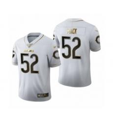 Men's Chicago Bears #52 Khalil Mack Limited White Golden Edition Football Jersey