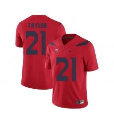 Arizona Wildcats 21 J.J. Taylor Red College Football Jersey