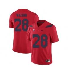 Arizona Wildcats 28 Nick Wilson Red College Football Jersey