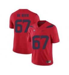 Arizona Wildcats 67 Gerhard De Beer Red College Football Jersey