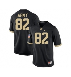Army Black Knights 82 Alejandro Villanueva Black College Football Jersey