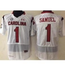 South Carolina Gamecocks 1 Gamecock Samuel White College Football Jersey