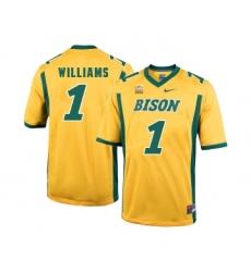 North Dakota State Bison 1 Marcus Williams Gold College Football Jersey