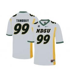 North Dakota State Bison 99 Nate Tanguay White College Football Jersey