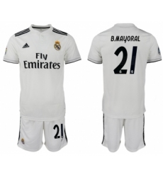 2018-19 Real Madrid 21 B.MAYORAL Home Soccer Jersey