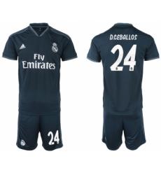 2018-19 Real Madrid 24 D.CEBALLOS Away Soccer Jersey