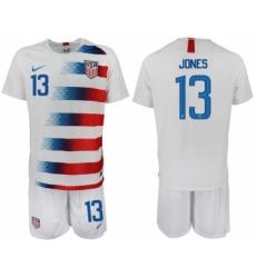 2018-19 USA 13 JONES Home Soccer Jersey