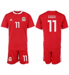 2018-19 Welsh 11 GIGGS Home Soccer Jersey