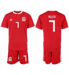 2018-19 Welsh 7 ALLEN Home Soccer Jersey