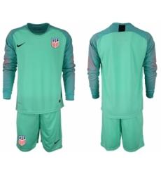 2018-19 USA Green Goalkeeper Long Sleeve Soccer Jersey