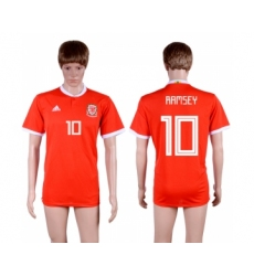 2018-19 Wales 10 RAMSEY Home Thailand Soccer Jersey