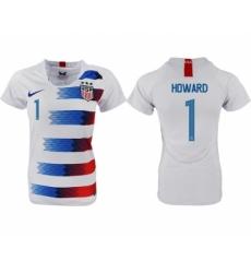 2018-19 USA 1 HOWARD Home Women Soccer Jersey