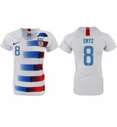 2018-19 USA 8 ERTZ Home Women Soccer Jersey