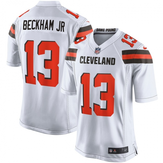 Men's Cleveland Browns #13 Odell Beckham Jr Nike White Game Jersey