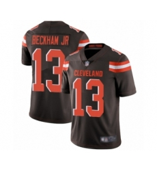 Men's Odell Beckham Jr. Limited Brown Nike Jersey NFL Cleveland Browns #13 Home Vapor Untouchable
