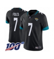 Youth Nike Jacksonville Jaguars #7 Nick Foles Black Team Color Vapor Untouchable Limited Player 100th Season NFL Jersey