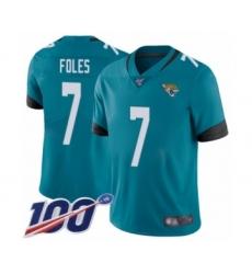 Youth Nike Jacksonville Jaguars #7 Nick Foles Teal Green Alternate Vapor Untouchable Limited Player 100th Season NFL Jersey