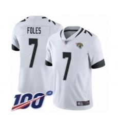 Youth Nike Jacksonville Jaguars #7 Nick Foles White Vapor Untouchable Limited Player 100th Season NFL Jersey