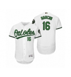 Men's Orioles Trey Mancini #16 White Turn Back the Clock Earth Day Throwback Jersey