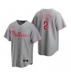 Men's Nike Philadelphia Phillies #2 Jean Segura Gray Road Stitched Baseball Jersey