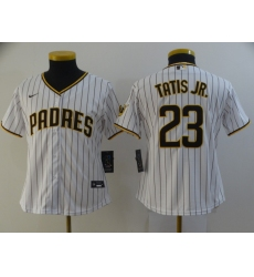 Women's San Diego Padres #23 Fernando Tatis Jr. Replica White Nike Jersey