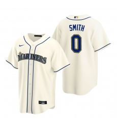 Men's Nike Seattle Mariners #0 Mallex Smith Cream Alternate Stitched Baseball Jersey
