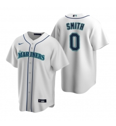 Men's Nike Seattle Mariners #0 Mallex Smith White Home Stitched Baseball Jersey