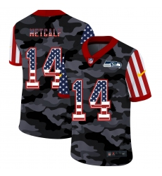Men's Seattle Seahawks #14 D.K. Metcalf Camo Flag Nike Limited Jersey