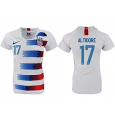 Women's USA #17 Altidore Home Soccer Country Jersey