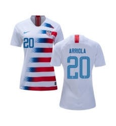 Women's USA #20 Arriola Home Soccer Country Jersey