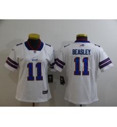 Women's Buffalo Bills #11 Cole Beasley White Nike Royal Player Game Jersey