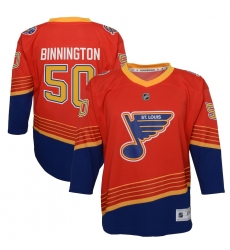 Youth St. Louis Blues #50 Jordan Binnington Red 2020-21 Special Edition Replica Player Jersey