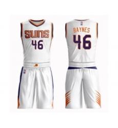 Men's Phoenix Suns #46 Aron Baynes Swingman White Basketball Suit Jersey - Association Edition