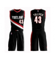 Men's Portland Trail Blazers #43 Anthony Tolliver Swingman Black Basketball Suit Jersey - Icon Edition