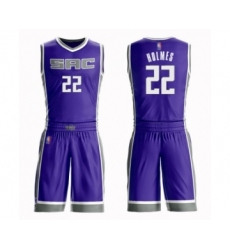 Men's Sacramento Kings #22 Richaun Holmes Swingman Purple Basketball Suit Jersey - Icon Edition