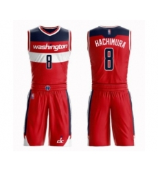 Men's Washington Wizards #8 Rui Hachimura Swingman Red Basketball Suit Jersey - Icon Edition